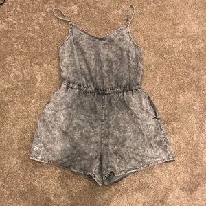 Acid wash romper